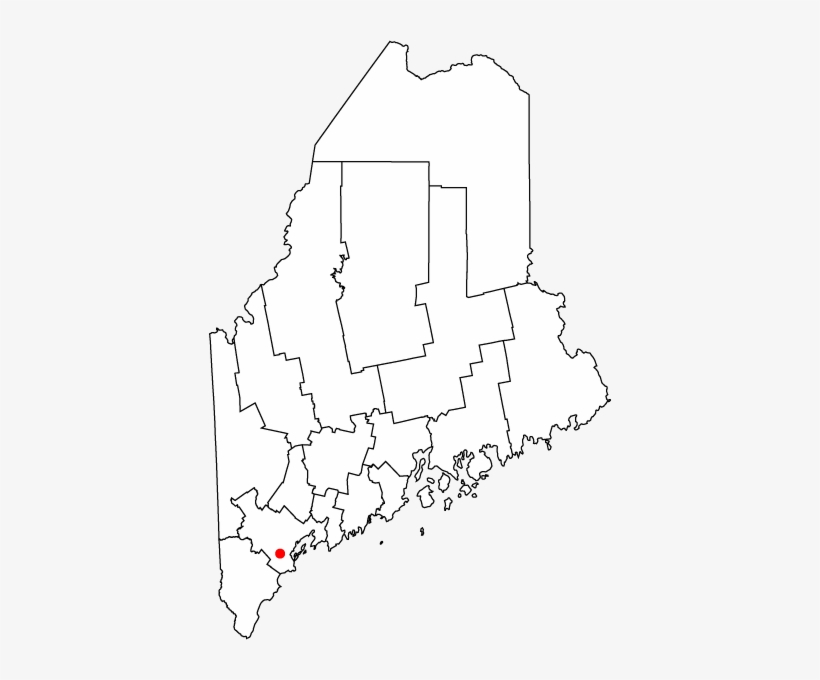 Stephen King Map Of Maine.Map Of Maine Highlighting Westbrook Stephen King Maine Map