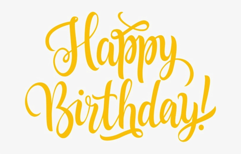 Colorful Happy Birthday Png Transparent Image - Calligraphy