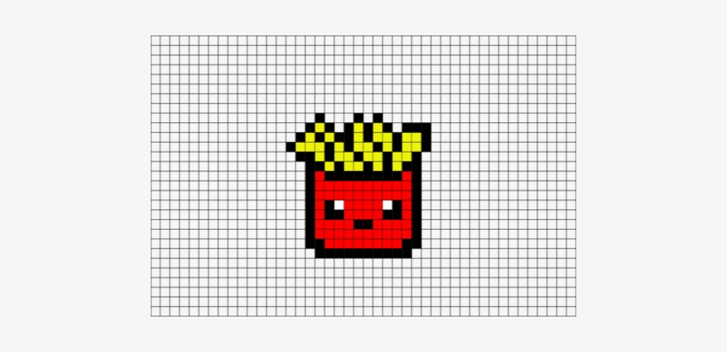 Chip Drawing Fry Pixel Art French Fries Transparent Png