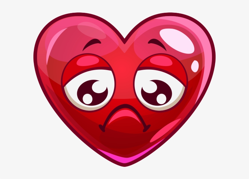 Sad Heart Png Image Love Heart With Face Transparent Png 600x600 Free Download On Nicepng