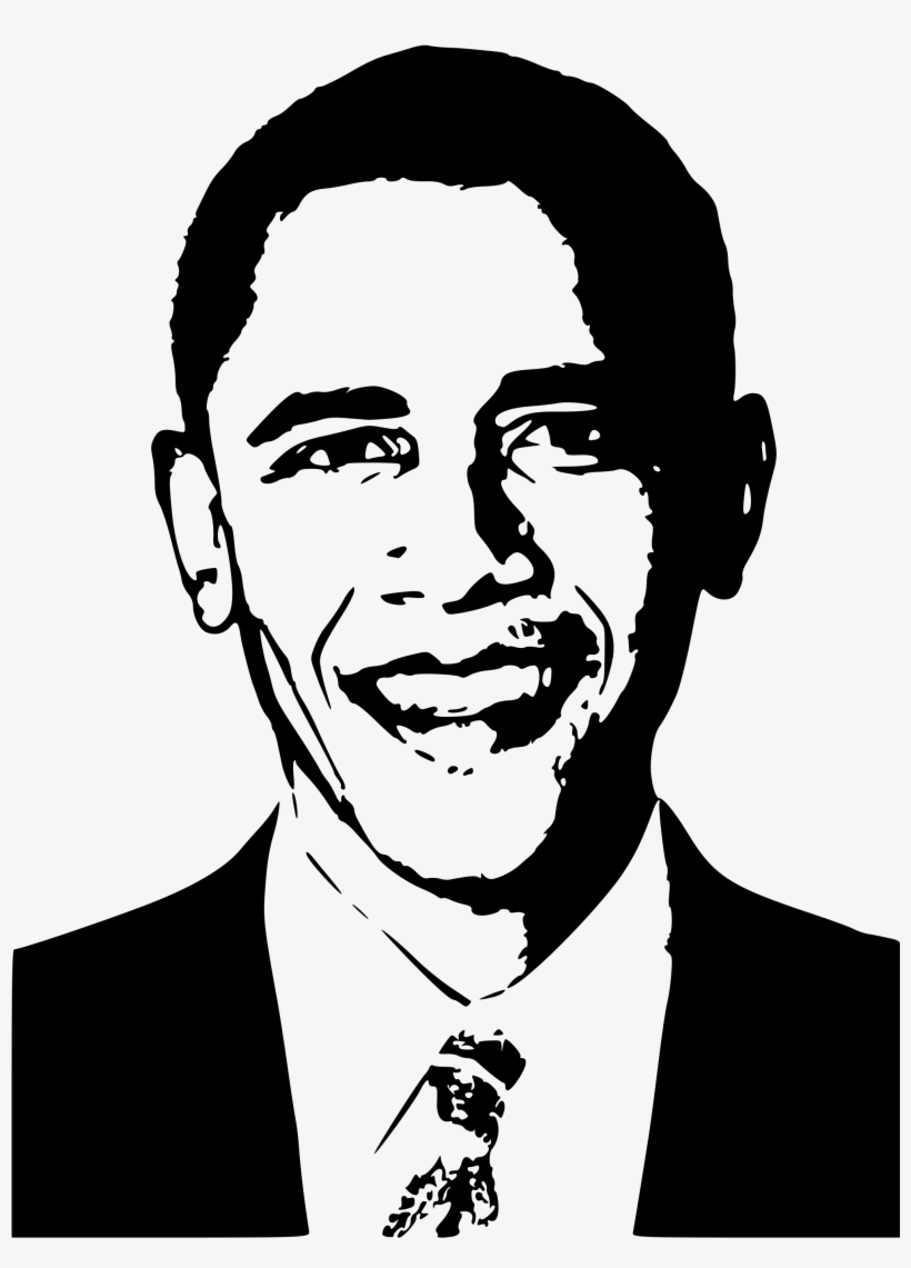 Black and white black and white portraits high contrast barack obama black and white drawing