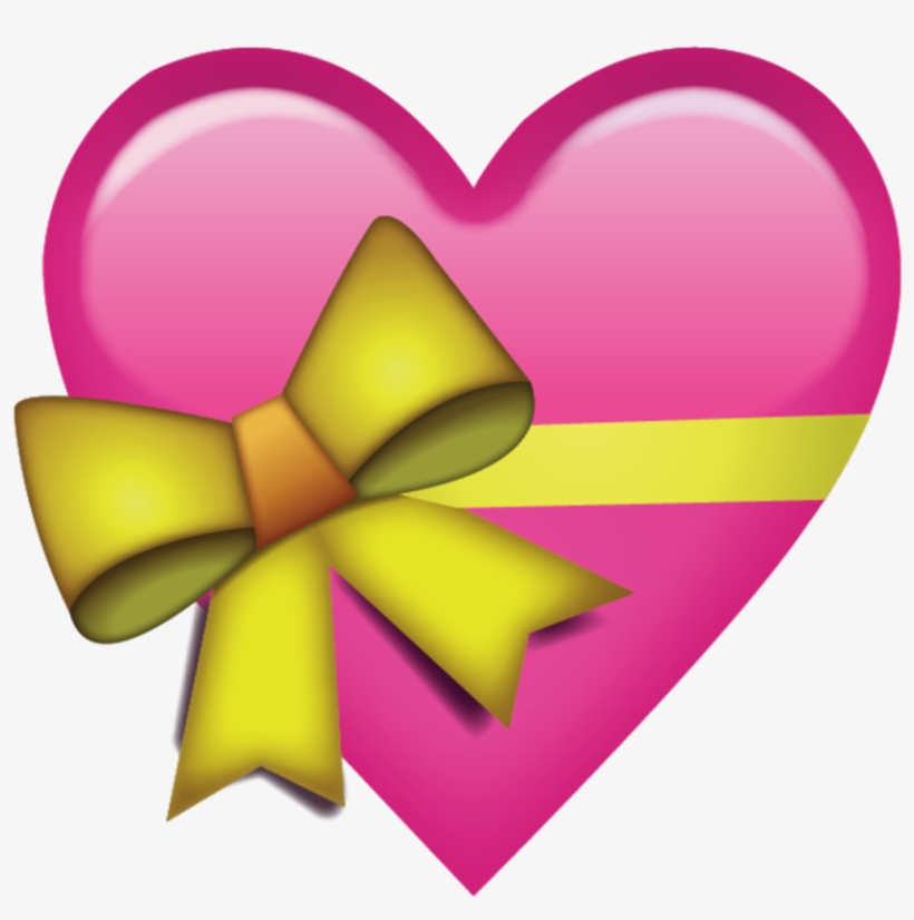 Download Pink Heart With Ribbon Emoji Icon Emoji Island Gift Heart Emoji Png Transparent Png 600x600 Free Download On Nicepng
