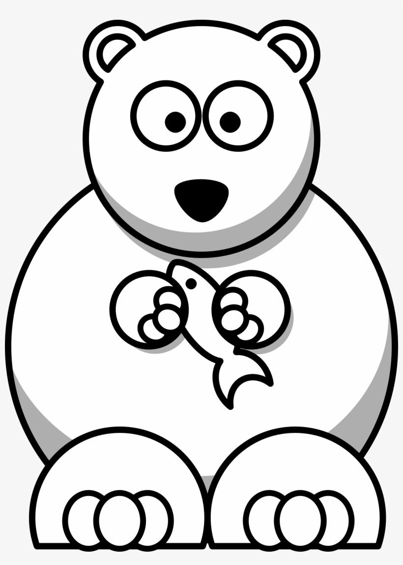 Cartoon Animals Black And White Hd Background 9 Hd Polar Bear