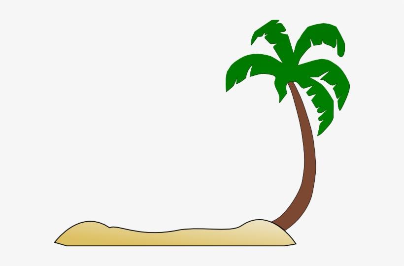 Beach coconut. Clipart tree silhouette clip