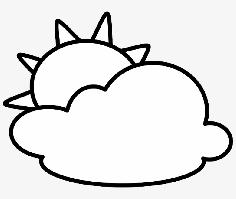 Mb Image Png Sun And Clouds Clipart Black And White Transparent