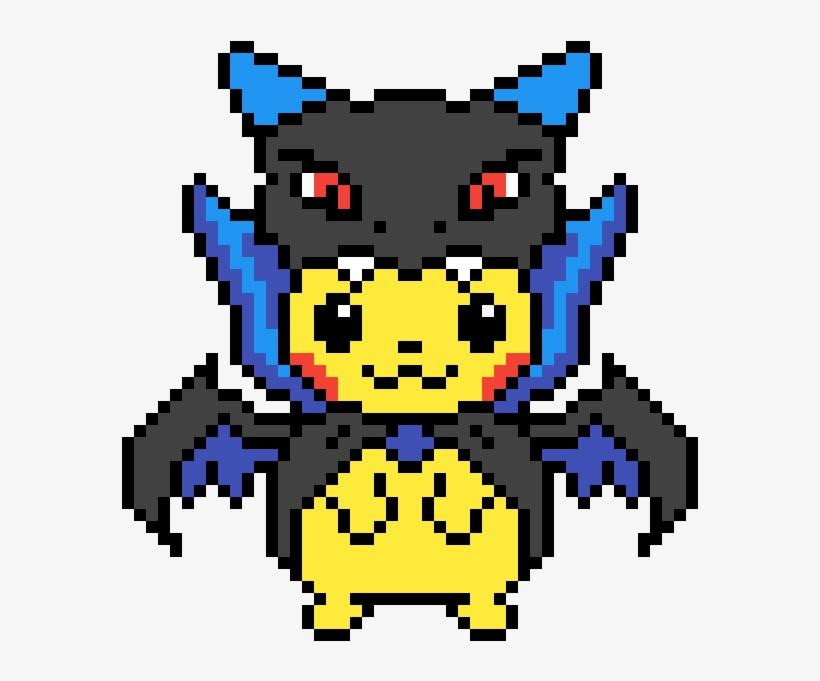 Pikachu Wearing Mega Charizard X Pajamas Charizard X