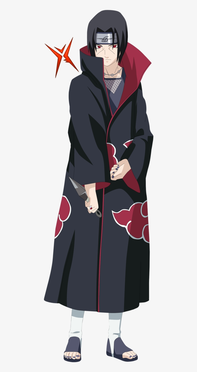 Itachi Uchiha By Rokkx On Deviantart Itachi Uchiha No Background Transparent Png 532x1499 Free Download On Nicepng