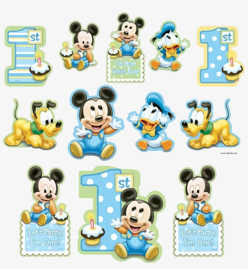 All Sticker Sample Mickey And Friends Baby Clipart - Happy