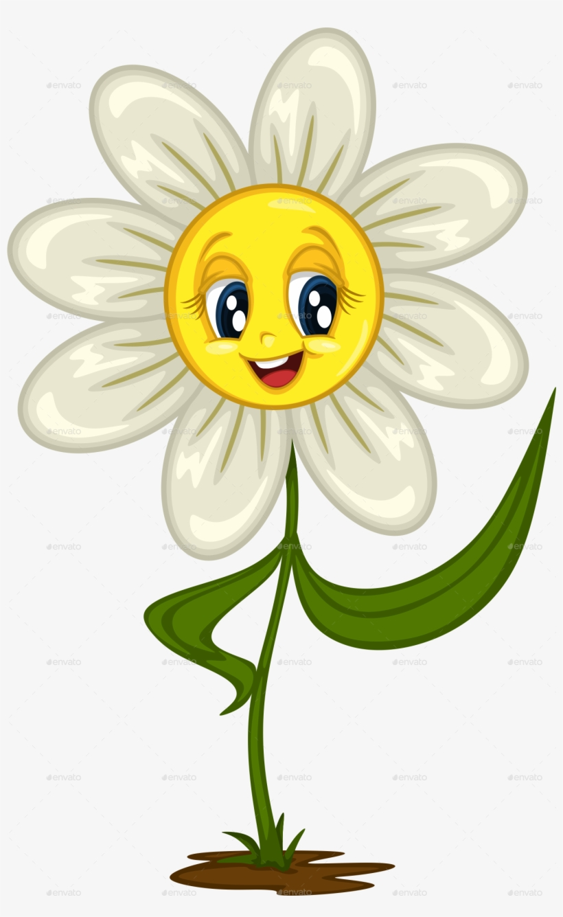 Daisy Stickers For Diffe Cartoon Flower Png Picture Easy