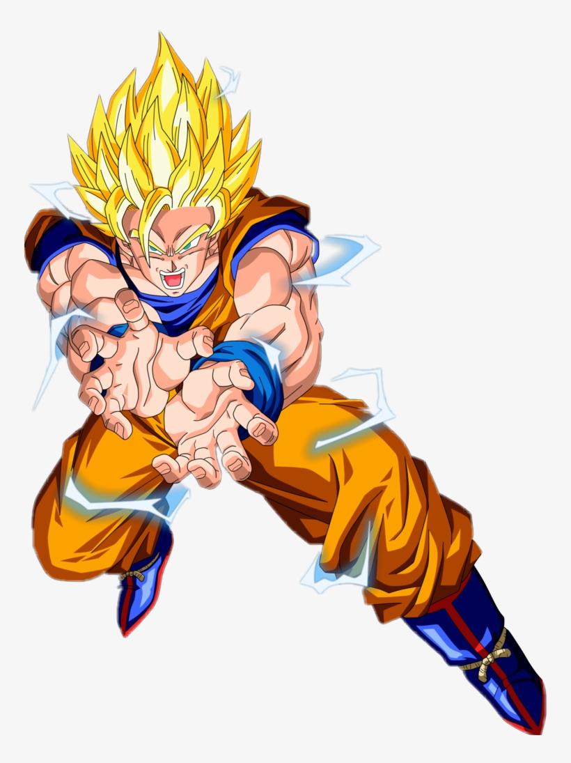 Goku Clipart Kartun - Imágenes De Goku Kamehameha ...