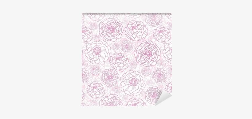 Vector Floral Background Png Vector Pink Line Art Flowers