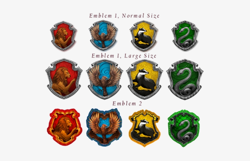 This is a picture of Printable Hogwarts House Crests pertaining to house harry potter crest