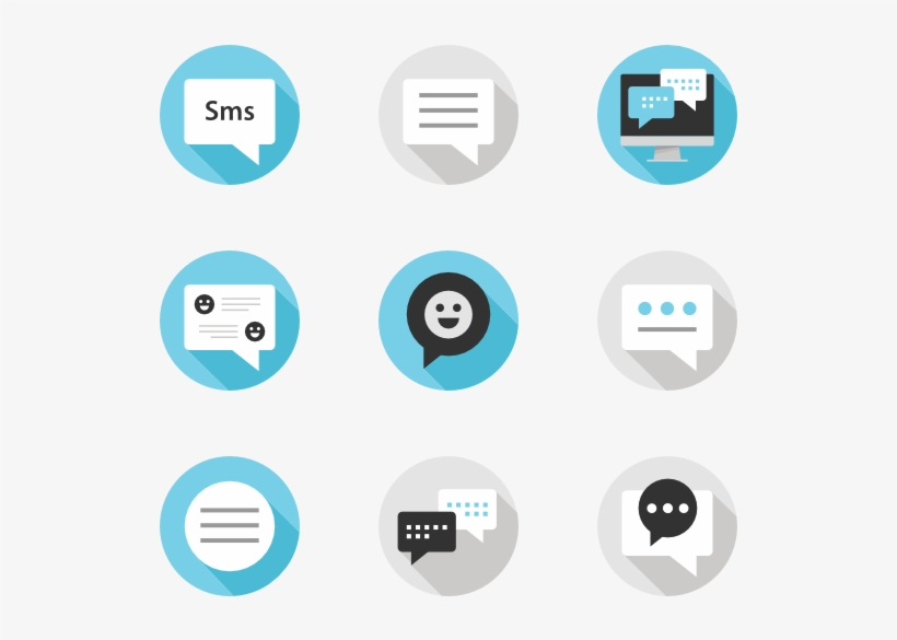 Text Messaging 15 Icons - Core Messaging Icon Transparent