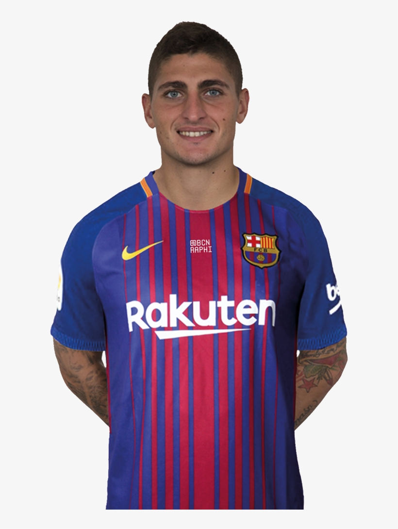 Raphi On Twitter Verratti Barcelona Shirt Transparent Png