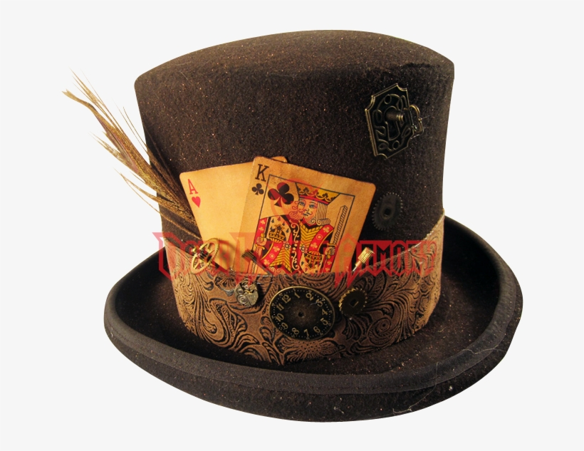 b7220d36bd7 88 Victorian Mens Hats - Top Hat With Cards Transparent PNG ...
