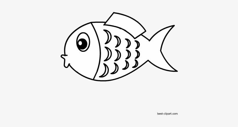 Free Black And White Fish Png Clip Art Image Fish Black And White Transparent Clipart Transparent Png 450x450 Free Download On Nicepng