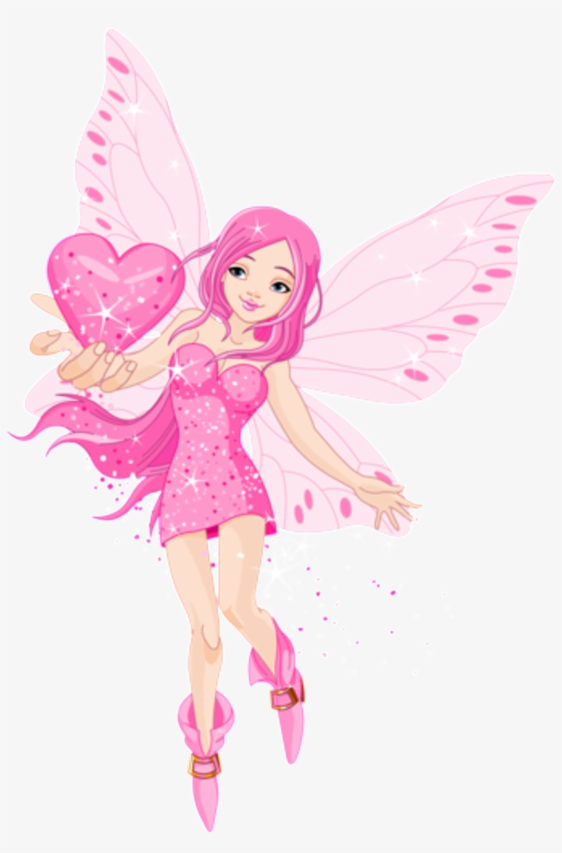 This Graphics Is Cartoon Pink Butterfly Fairy Pattern Love Fairy Transparent Png 1024x1505 Free Download On Nicepng