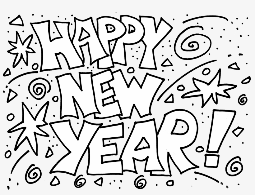 happy new year 2018 coloring pages happy new year 2018 black and white clipart transparent png 1600x1150 free download on nicepng happy new year 2018 coloring pages