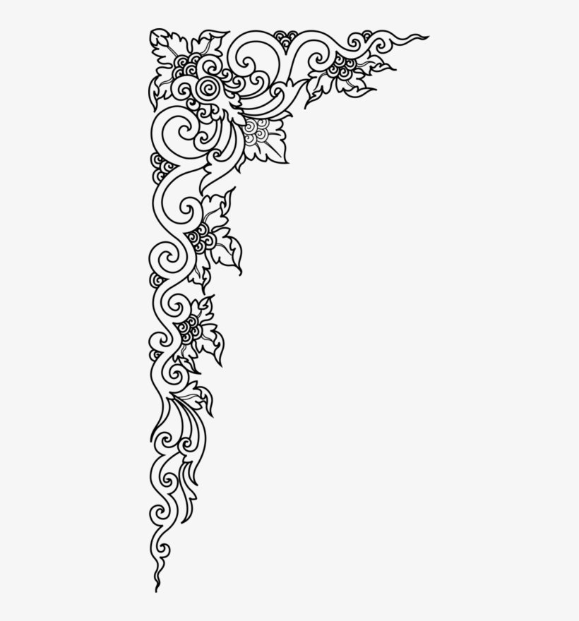 Pin By Jan Kelly On Design Drawings Oriental Frame Png