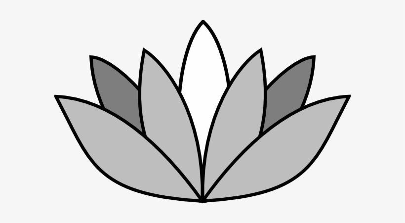 Greyscale Lotus Flower Clip Art At Clipart Library Flowers Pics
