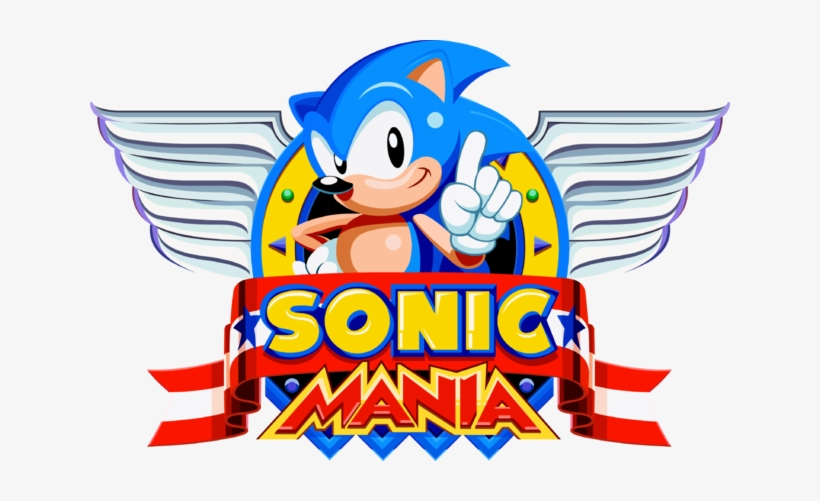Sonic Mania Logo Png Black And White Sonic Mania Title Gif Transparent Png 640x421 Free Download On Nicepng