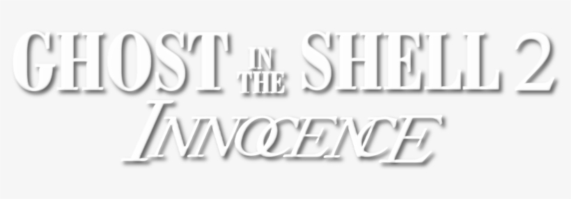 Ghost In The Shell Ghost In The Shell Innocence Logo Transparent Png 800x310 Free Download On Nicepng