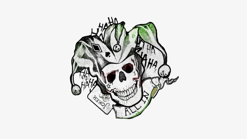 Joker Logo Png Joker Tattoo Poster Suicide Squad Transparent Png