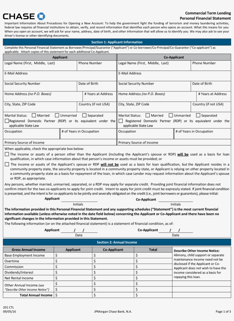 Chase Personal Loan >> Chase Bank Financial Statement Main Image Chase Personal Financial