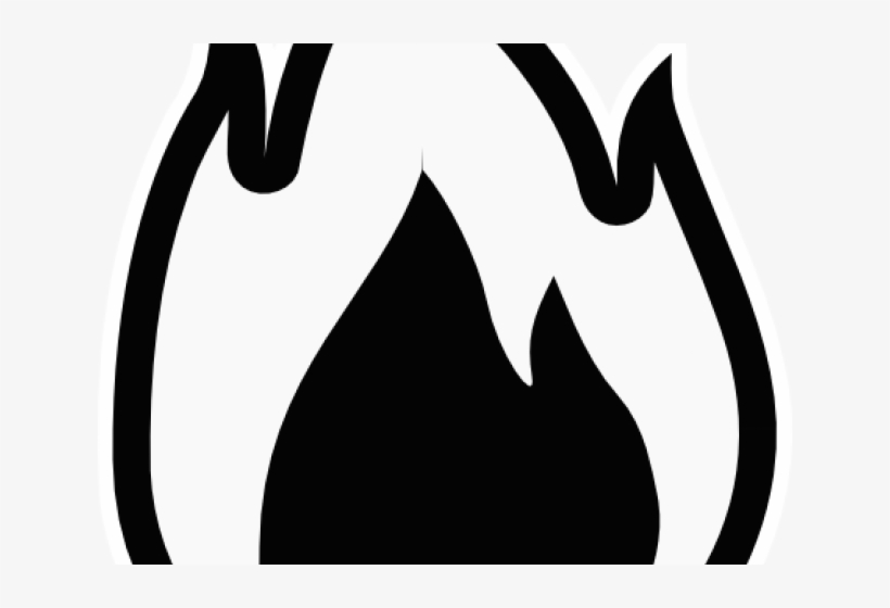 Fire Flames Clipart Outline Flame Black And White Transparent Png 640x480 Free Download On Nicepng