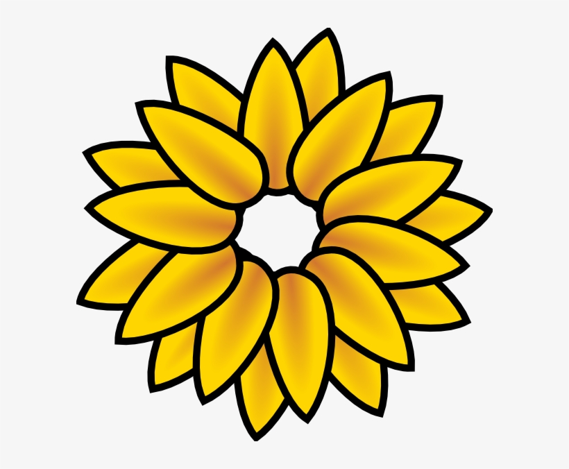 image about Printable Sunflower titled Sunflower Clip Artwork Totally free Printable - Sunflower Clipart