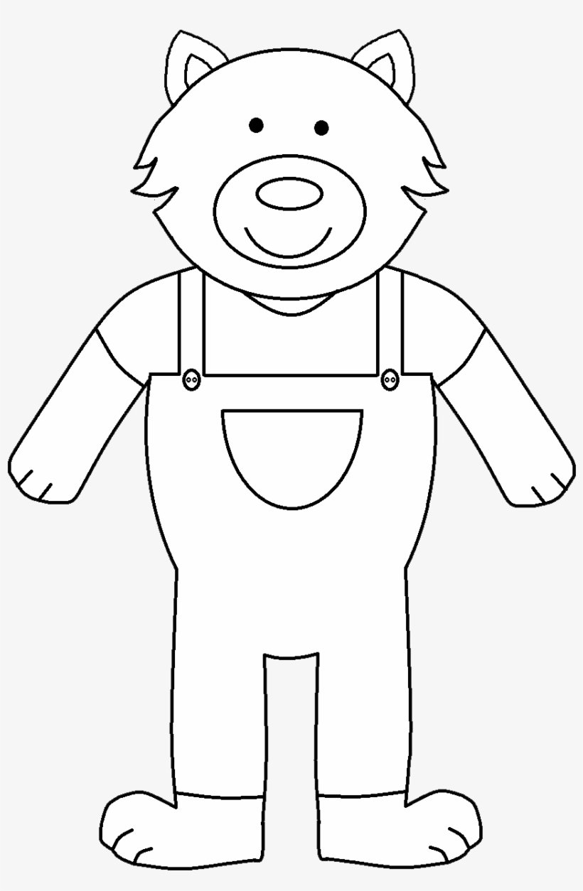 Graphic Royalty Free 3 Pigs Clipart Three Little Pigs Wolf Outline