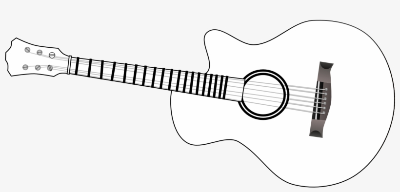 guitar outline clip art black and white guitar