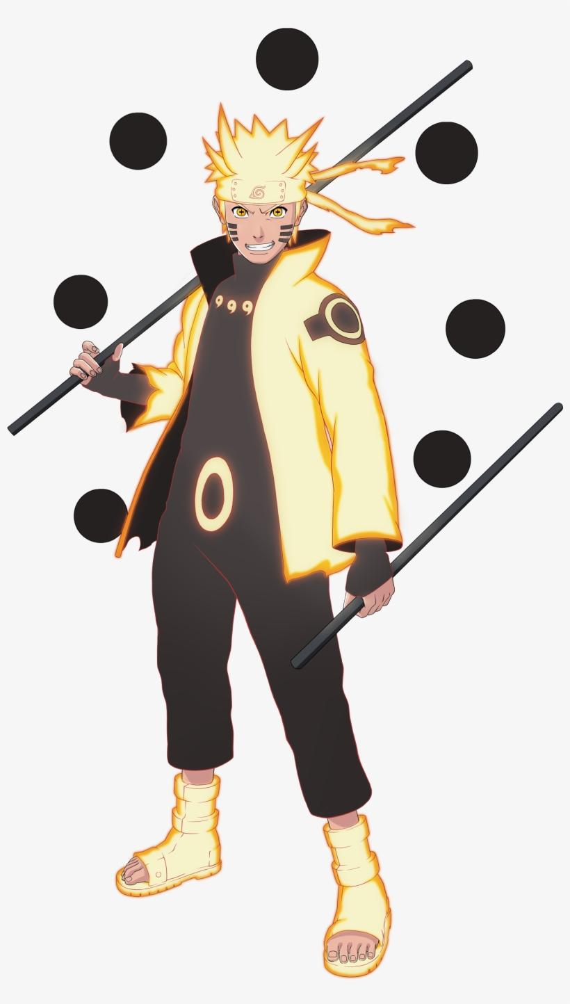 Naruto Ashura Transparent Png Naruto Six Paths Sage Mode Costume