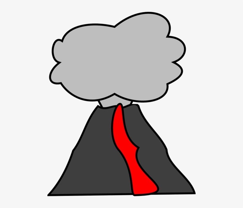 Vector Volcano Cartoon Png Transparent Png 500x623 Free