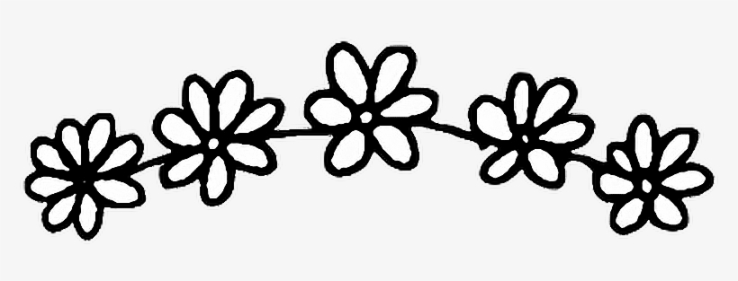 Tumblr Flower Stickers Download Flower Sticker Black And White