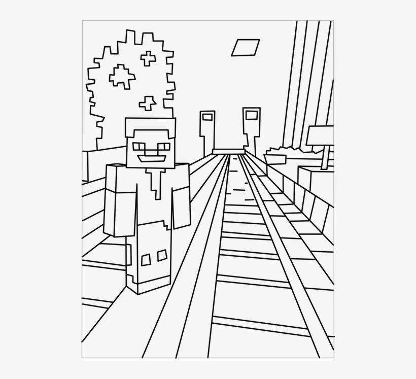 Printable Minecraft City Coloring Pages Desenhos Para Colorir