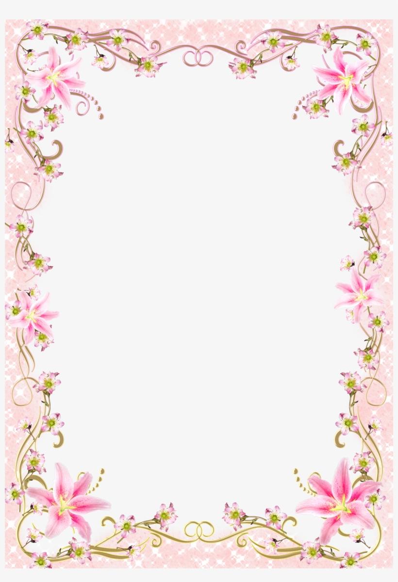 Pink Floral Border Png Jpg Transparent Frame Border Line Design