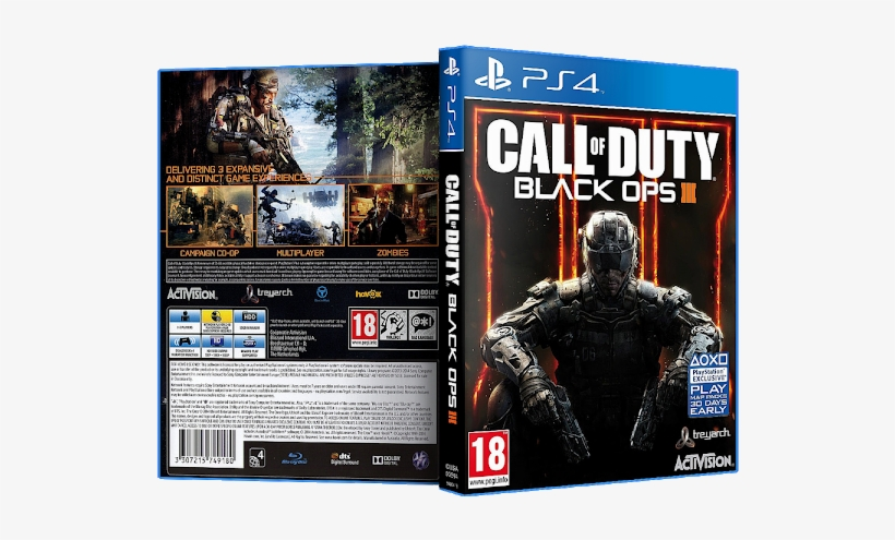 Capa Call Of Duty Black Ops 3 Ps4 Activision Xbox One Call Of