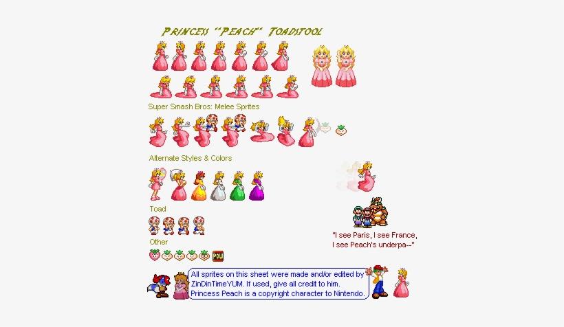 Peach Sprite Png Clipart Royalty Free - Super Smash Bros 64 Peach