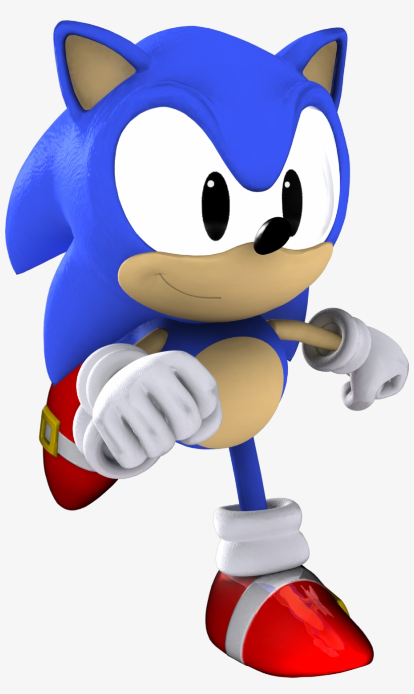 Classic Sonic The Hedgehog 3d By Itshelias94 Sonic 06 Classic Sonic Transparent Png 900x1467 Free Download On Nicepng