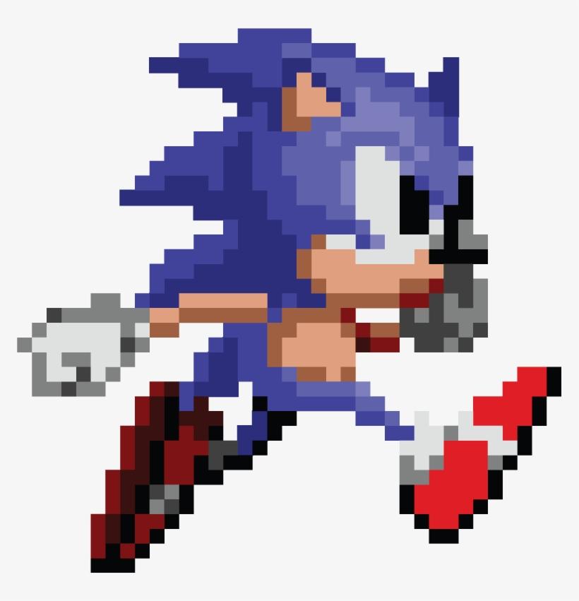 8 Bit Sonic Pixel Art Transparent PNG - 771x771 - Free