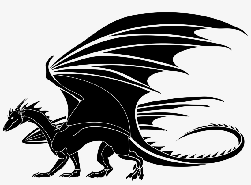 Dragon Png Image Vector Royalty Free Download Black And White Dragon Clipart Free Transparent Png 2318x1605 Free Download On Nicepng
