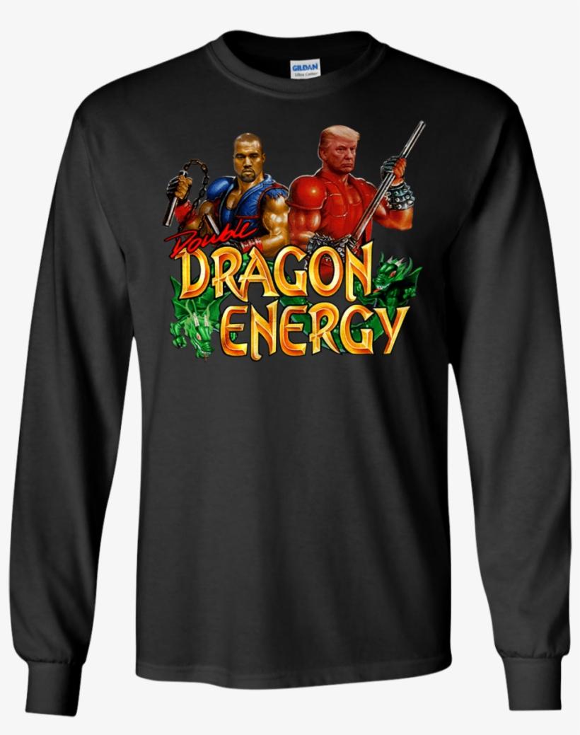 3fc5fe48f Kanye West & Donald Trump Double Dragon Energy Long - Tee Shirt Adidas  Uchiha