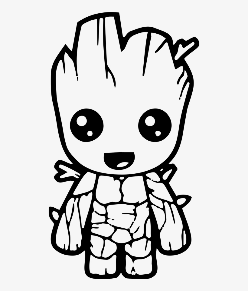 Cute Avengers Coloring Pages Transparent PNG