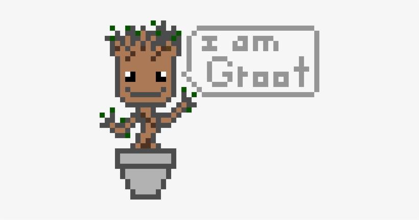 Baby Groot Excel Pixel Art Transparent Png 430x350