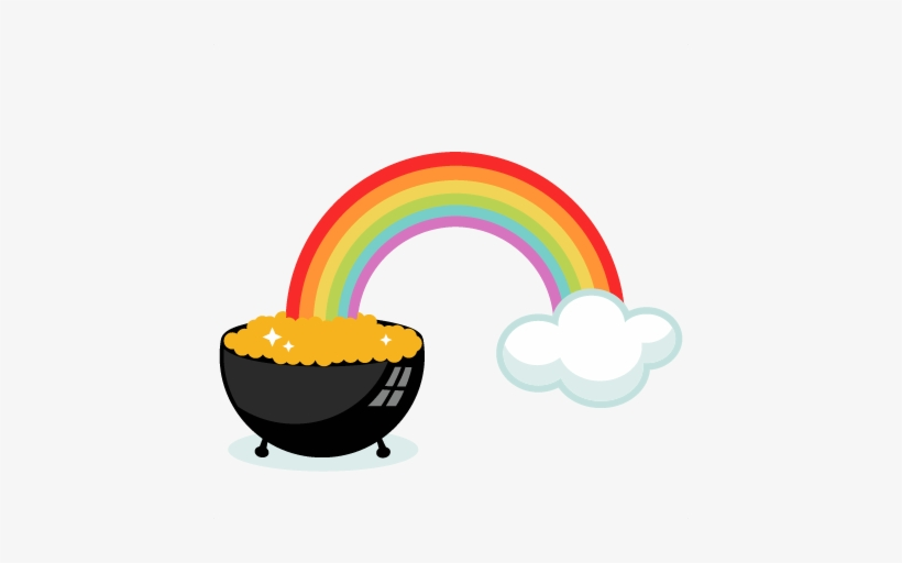 Pot Of Gold With Rainbow Svg Cutting Files For Scrapbooking St Patricks Day Clipart Rainbow Transparent Png 432x432 Free Download On Nicepng