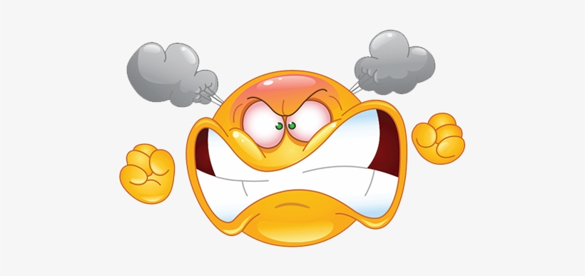 Perseverance Transparent Background Angry Emoji