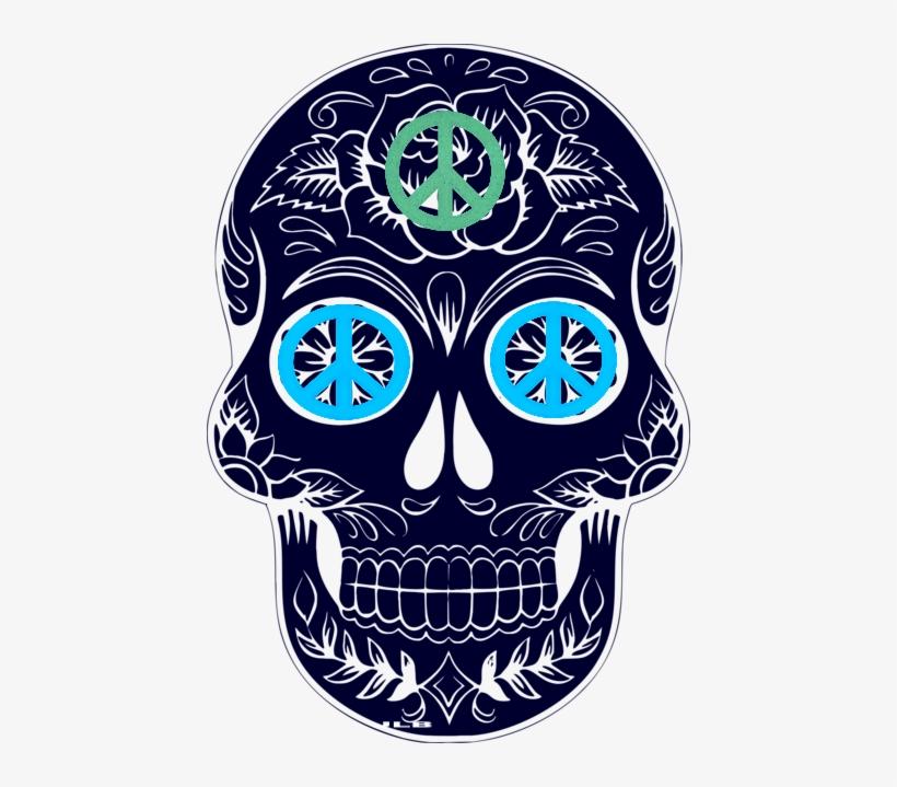 Sugar Skulls Sugar Skull Black And White Transparent Png 442x639