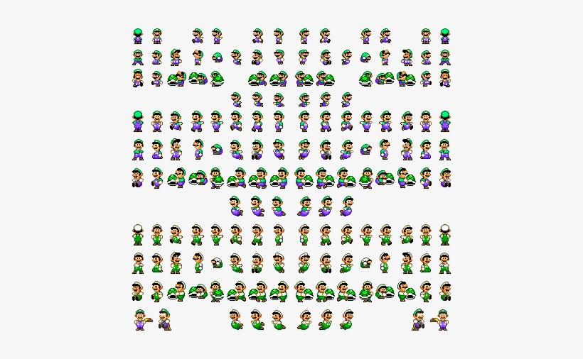Luigi Luigi Super Mario World Sprites Transparent Png 448x426