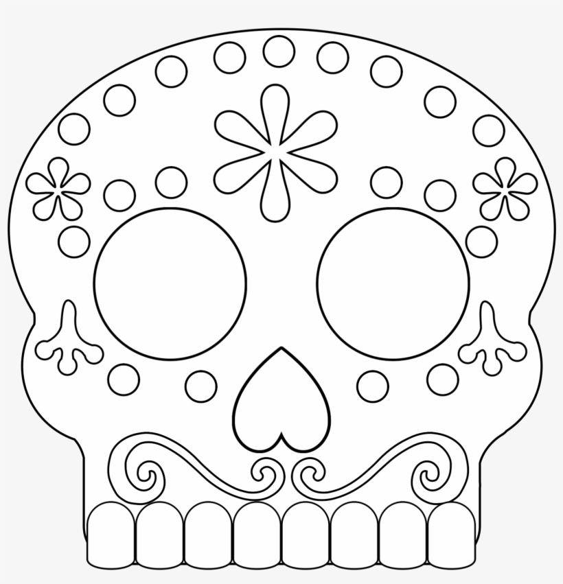 Click The Following Links To Print The Day Of The Dead - Sugar Skulls  Coloring Pages Movie Coco Transparent PNG - 1563x1563 - Free Download On  NicePNG
